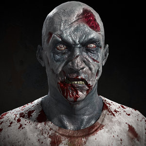 3D zombie character real-time