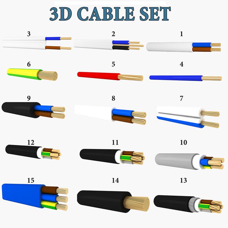 cables 3D model