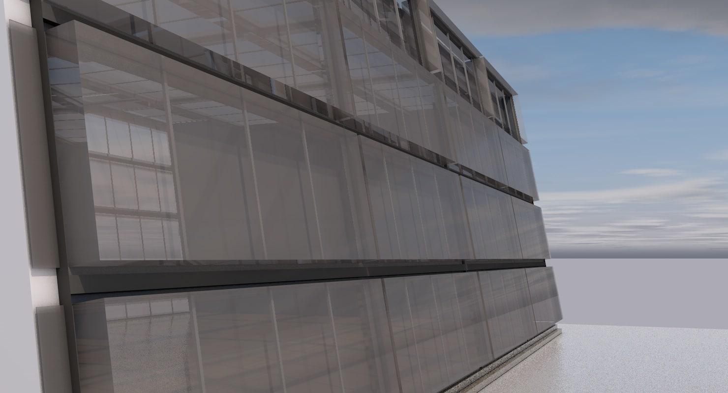 3D building glass ceiling