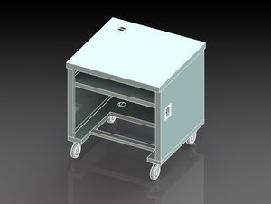 3D cash box model