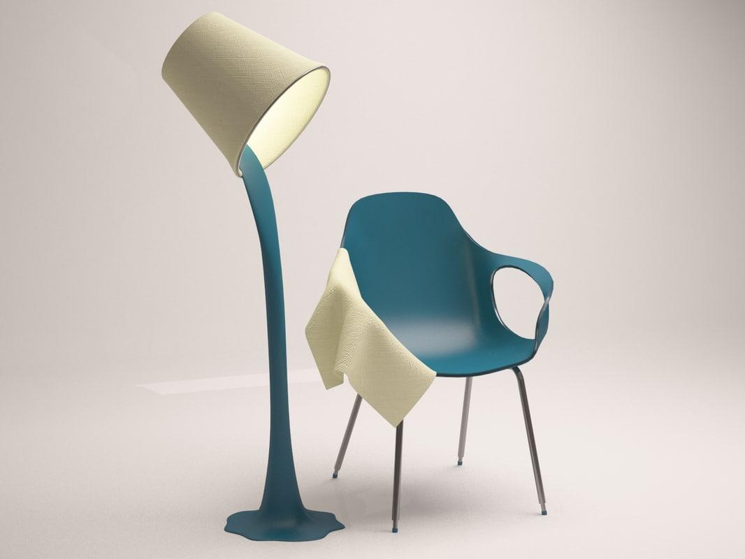 chair light 3D model