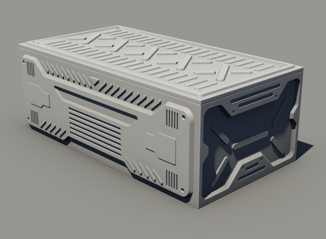 3D sci-fi container - model