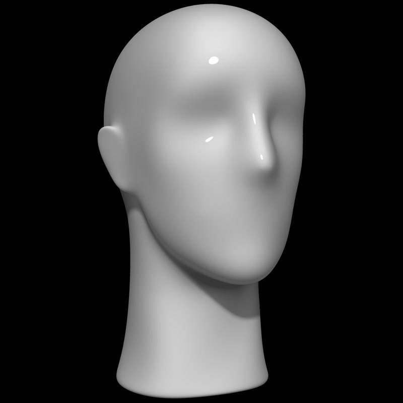 3D model mannequin head man