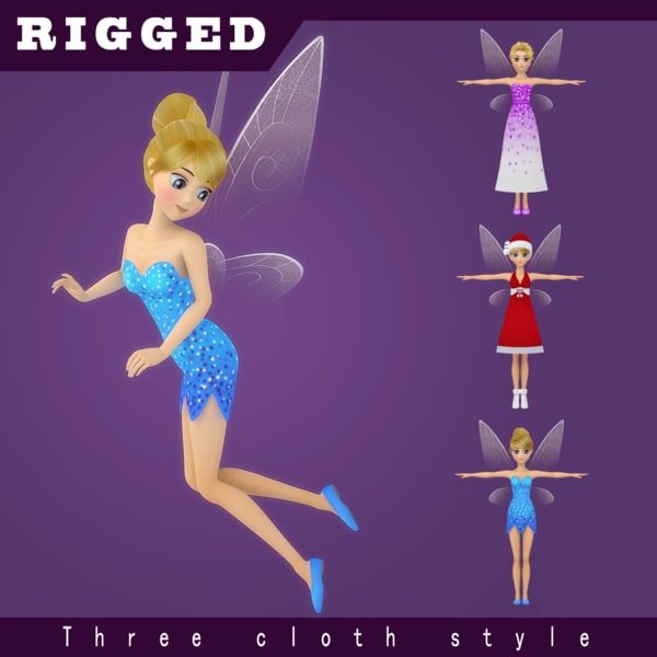 3D fairy rigged