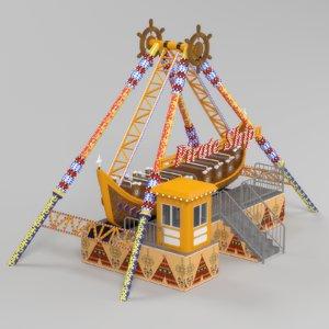 3D model corsair boat