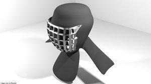 guard headguard 3D model