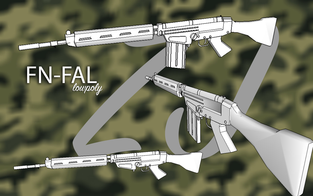 3D fn fal 762 model