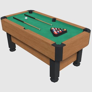 3D pool table - games model
