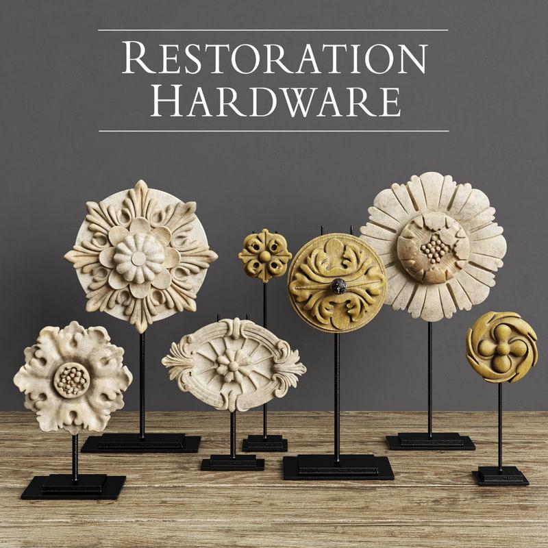 restoration hardware architectural ornaments 3D