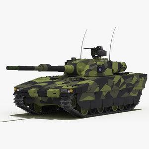 cv90 120-t light tank 3D model