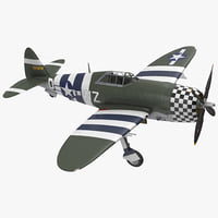 fighter aircraft republic p-47 model