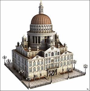 3D building dome d