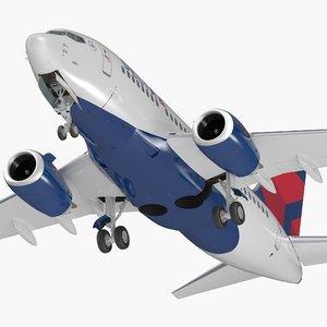boeing 737-600 interior delta 3D model