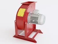 industrial exhaust snail mh 3D model