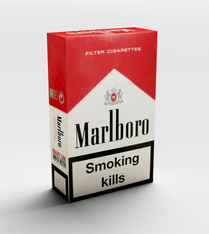 marlboro cigarettes pack 3D model