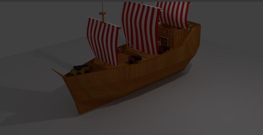 sailboat boat 3D model