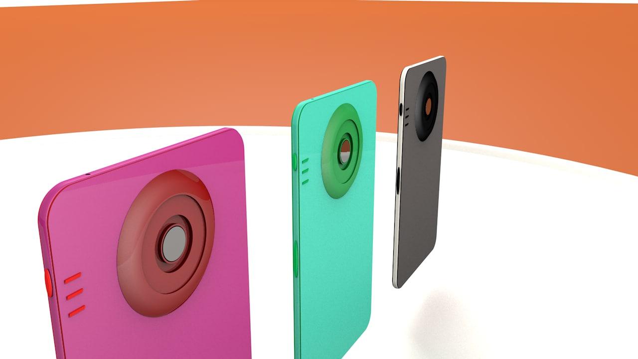 smart phone 3D model