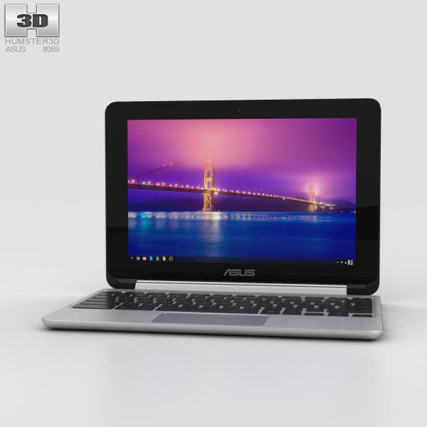 3D asus chromebook flip model
