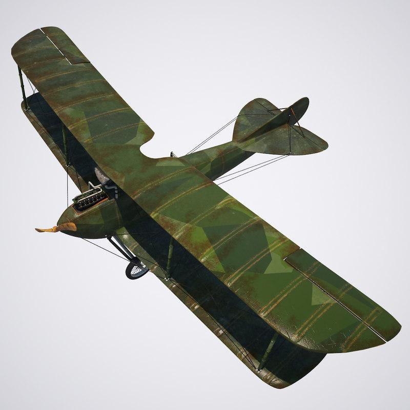 3D aircraft rumpler model
