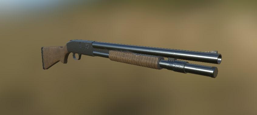 gun shootgun 3D