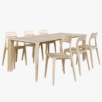 Wood Dining Set - Raia Table & November Chair