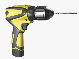 3D model drill unwrapped