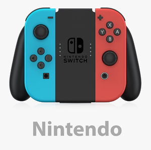 nintendo joycon grip 3D model