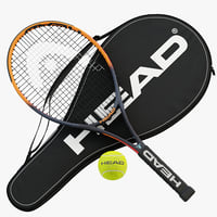 tennis racket head ig 3D model