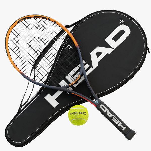 tennis racket head ig 3D model