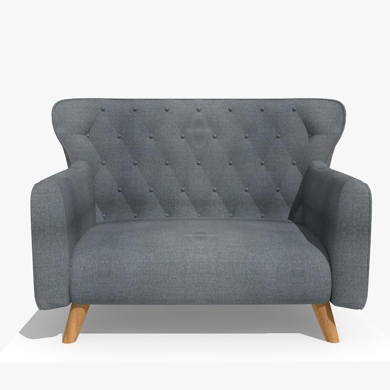 3D comfy chair model