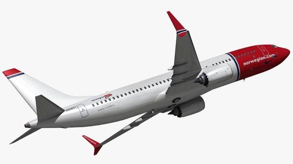 3D model boeing 737 norwegian