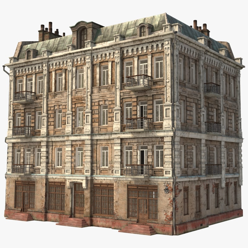 old city townhouse 3D