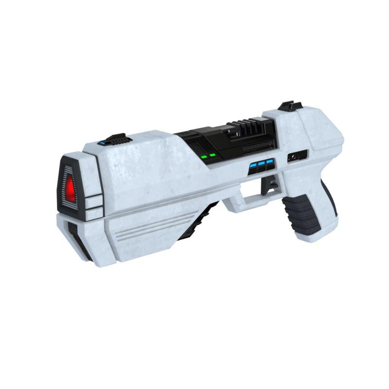 3D sci-fi handgun pb 17 model