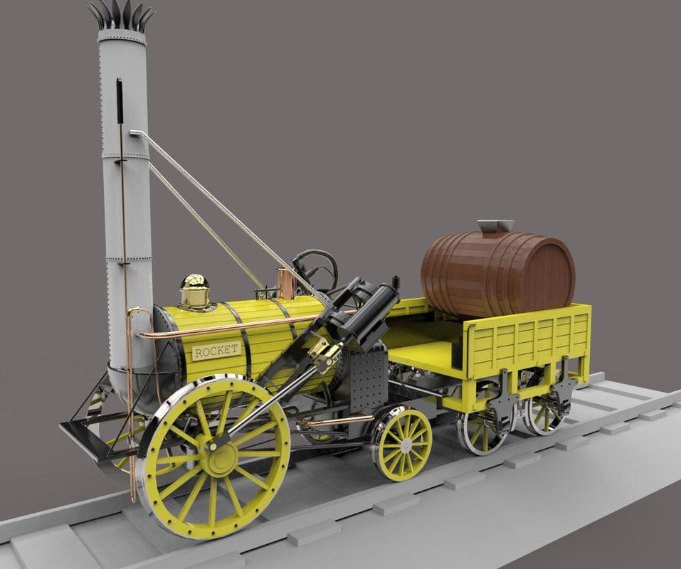 stephensons rocket locomotives 3D