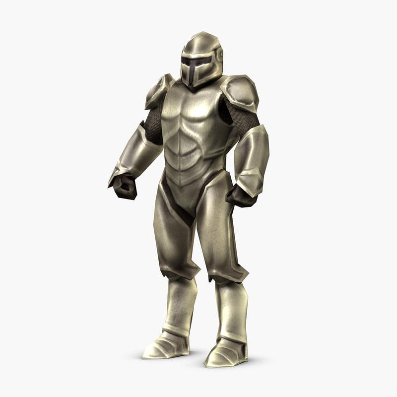 character rig infantryman 3D model