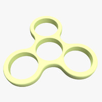 fidget spinner body 3D model