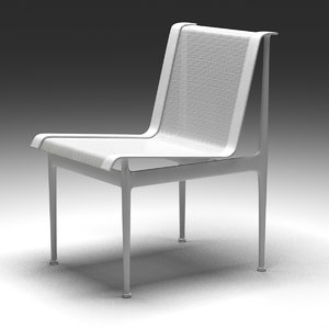 chair dwr 1966 dining 3D model