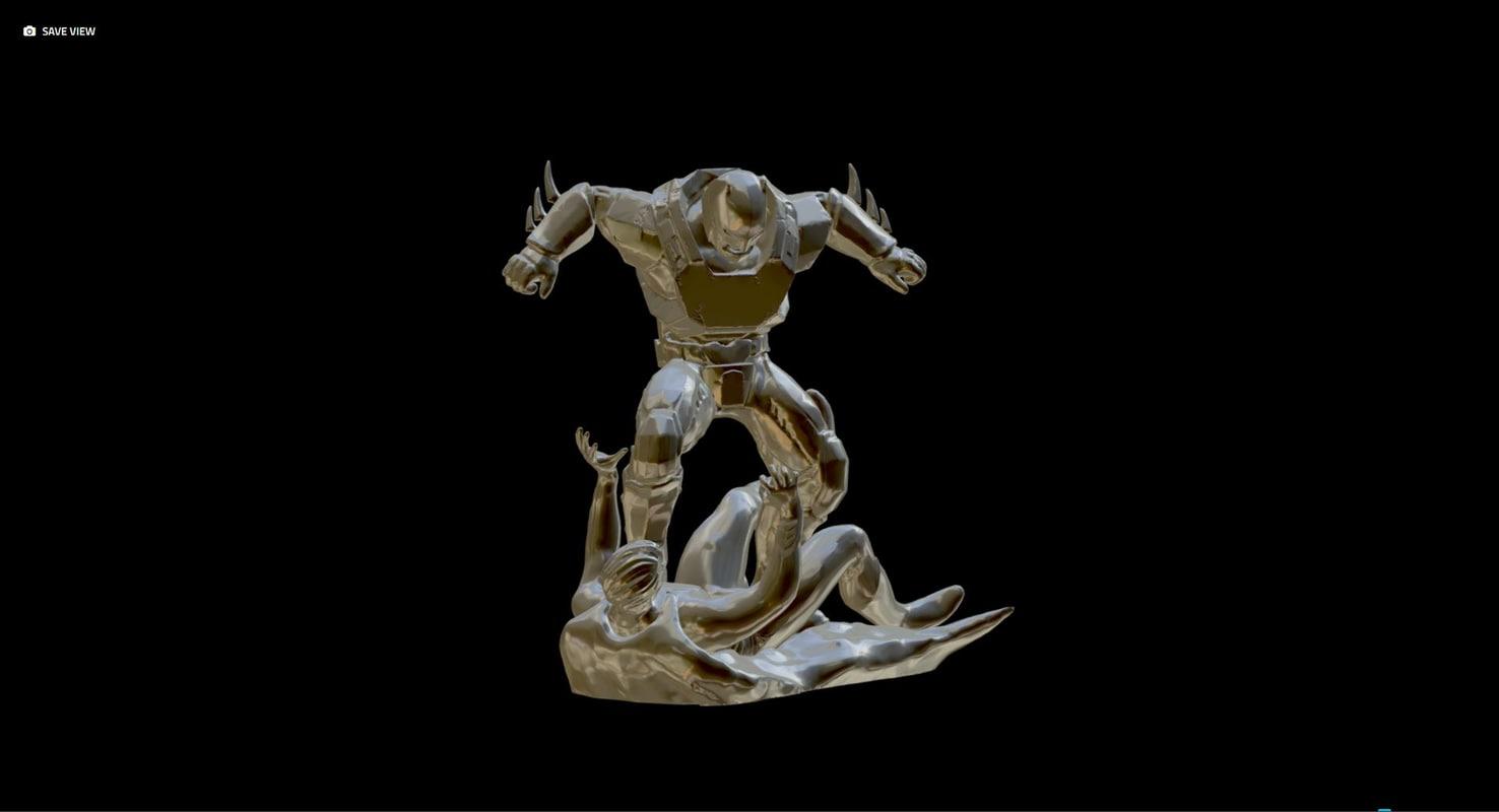 batguy vs 3D model