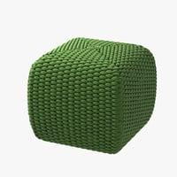 pouf paola lenti 3D