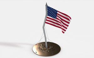 desk flag usa model