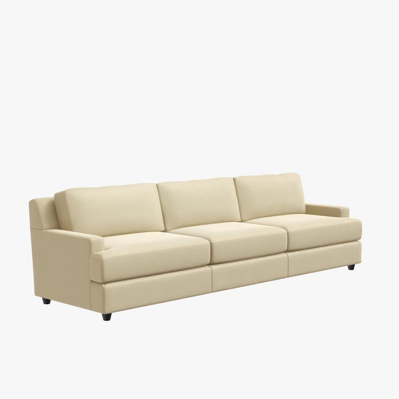 3D baker pasha sofa jacques