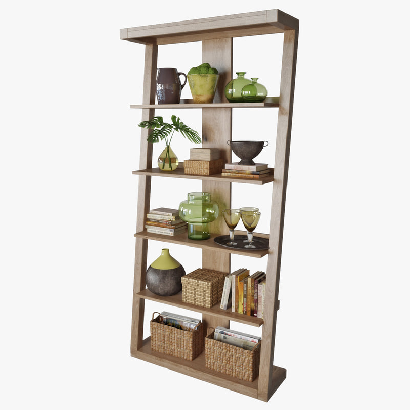 3D model shelving decorative set