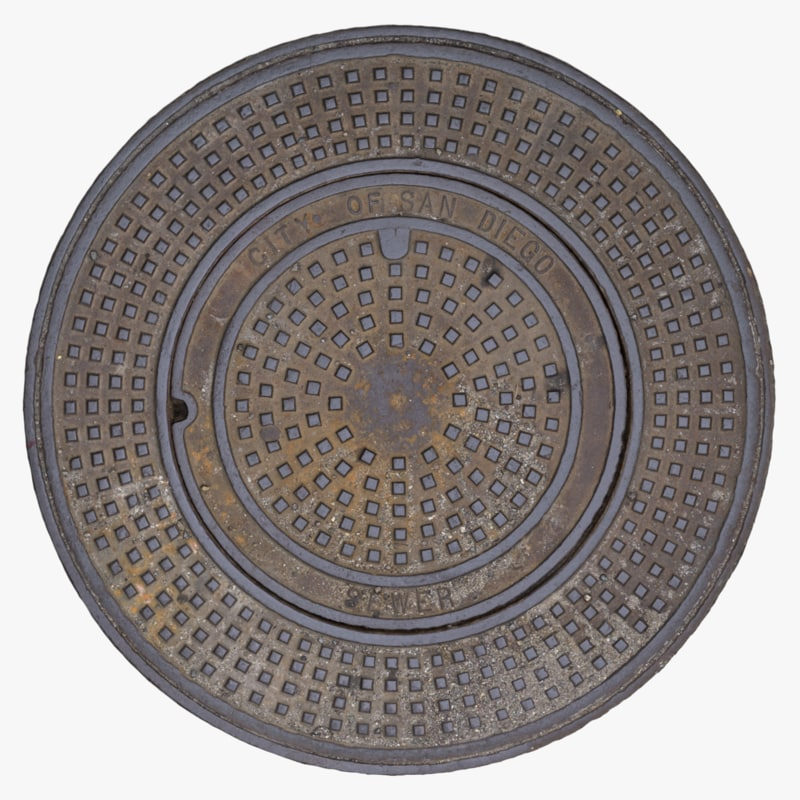 sewer cover 3D model