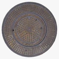 Sewer Cover- San Diego (3D Scan)