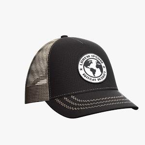 3D baseball hat 2 model