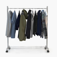 clothes rack 3D model