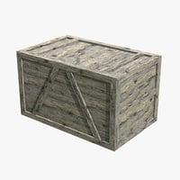3D wood crate games pbr
