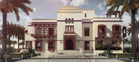 3D islamic-style villa