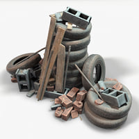 real time ready debris 3D model