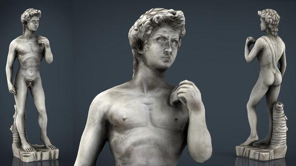 3D david statue